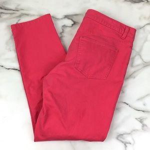 Talbots Pink Signature Slim Ankle Jeans
